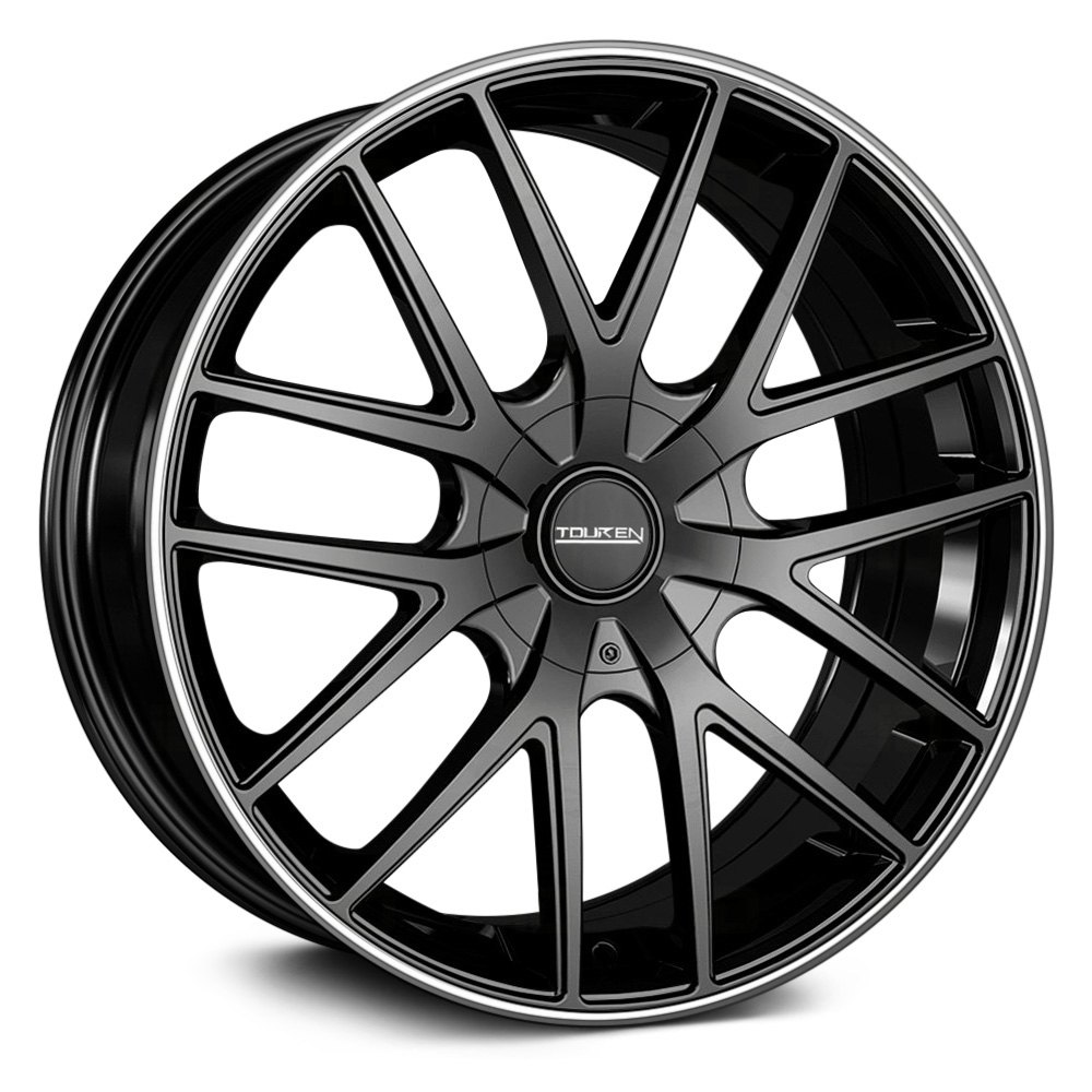 TOUREN® TR60 Wheels - Black with Machined Ring Rims
