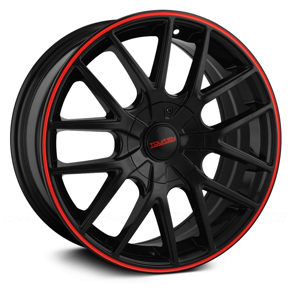 Touren 174 Tr60 3260 Wheels Black With Red Ring Rims