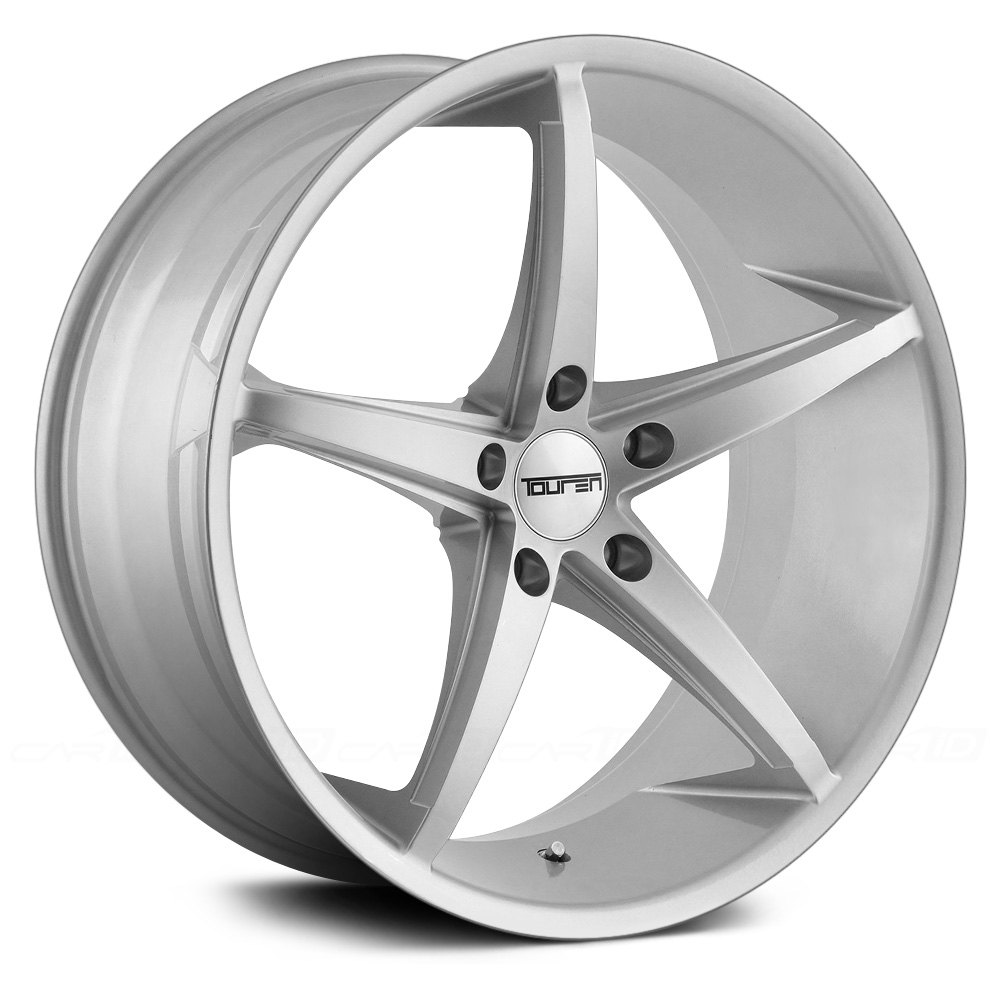 Touren 174 Tr70 Wheels Silver With Milled Accents Rims