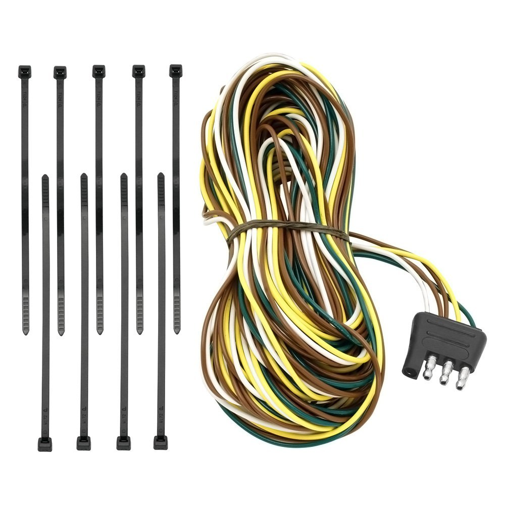 Tow Ready 118192 25 4 Flat Trailer End Connector With Dual Tail Light Wires