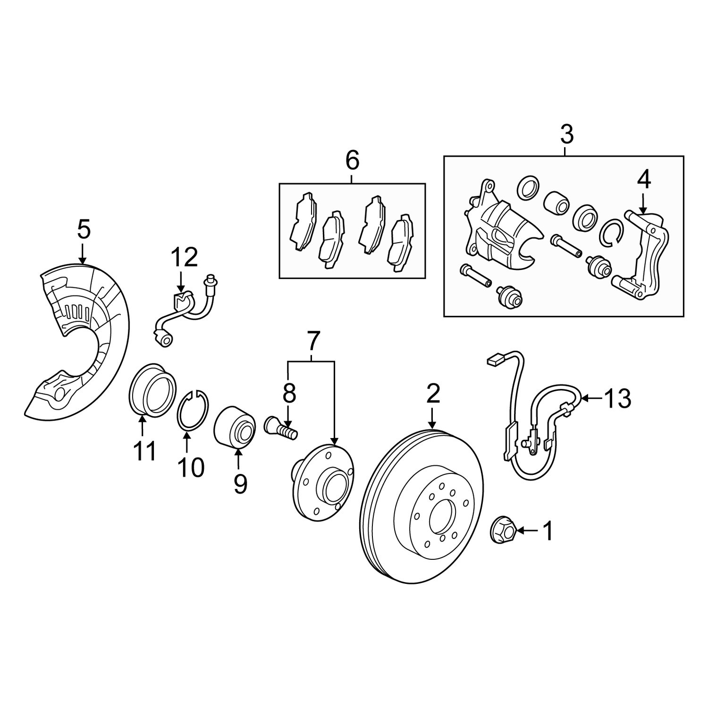 Toyota 90947-A2030 Disc Brake Hydraulic Hose