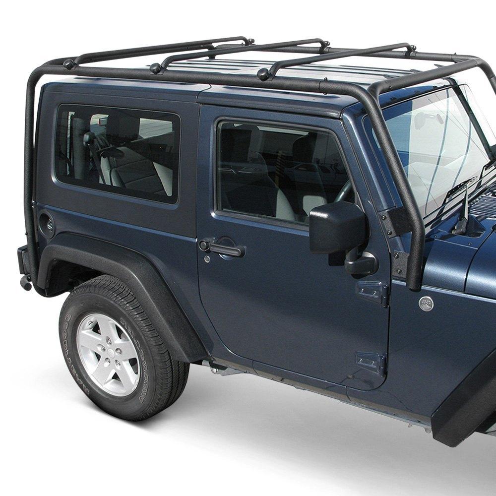 Jeep Wrangler Luggage Rack: Jeep Wrangler 2007-2017 Black Roof Rack