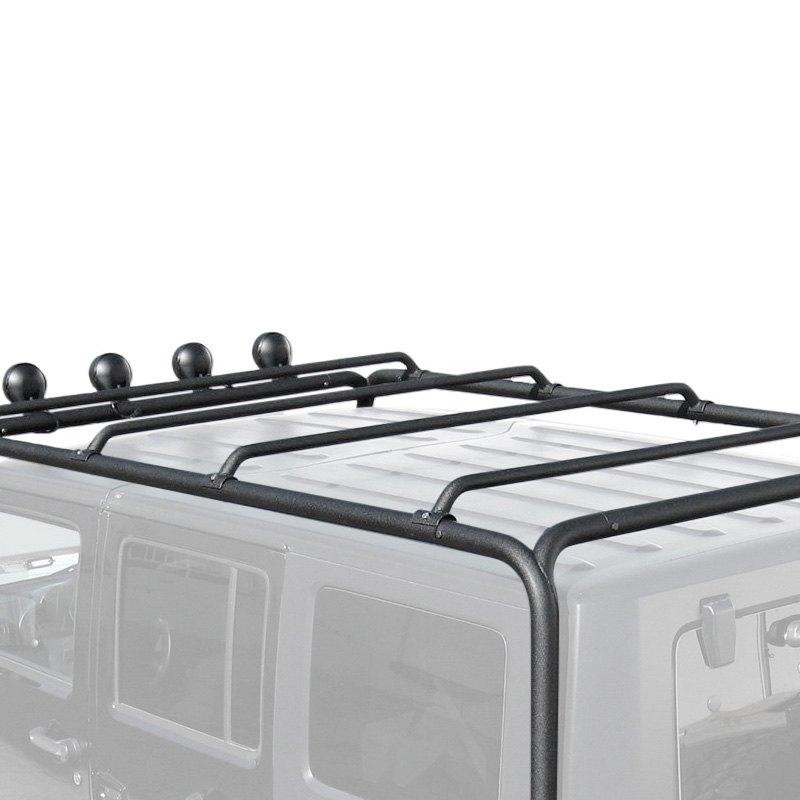 Trailfx 174 Jeep Wrangler 2017 Black Roof Rack