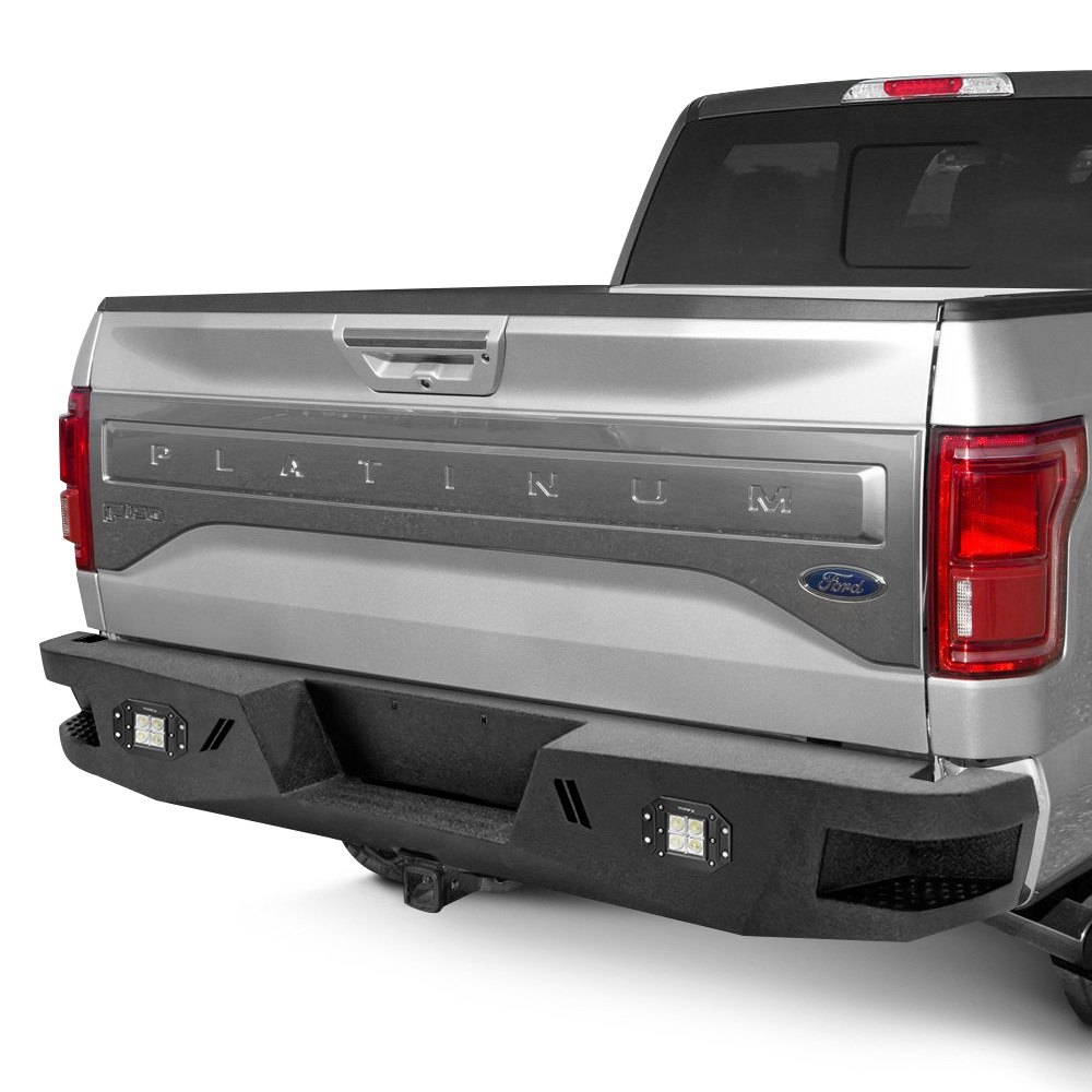 bumper The warn ascent rear bumper is designed to sit high, maintaining maximum ground clearance and approach angles the angled design with black finish offers a custom look, and delivers maximum off-road performance.