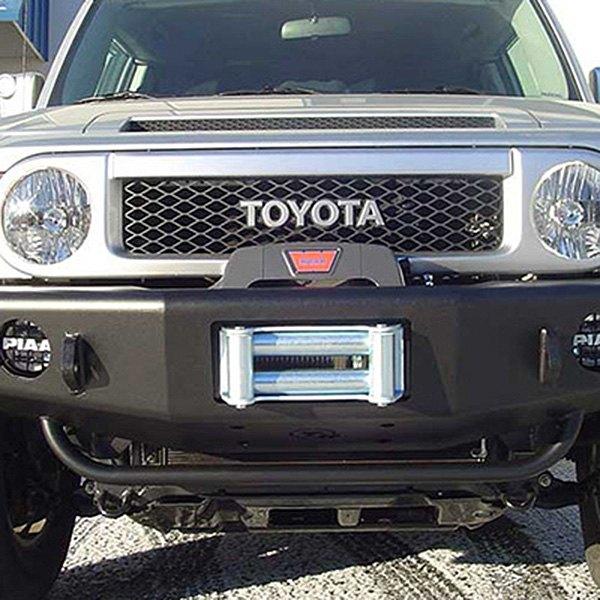 trailready toyota fj cruiser 2008 full width black front winch hd bumper. Black Bedroom Furniture Sets. Home Design Ideas