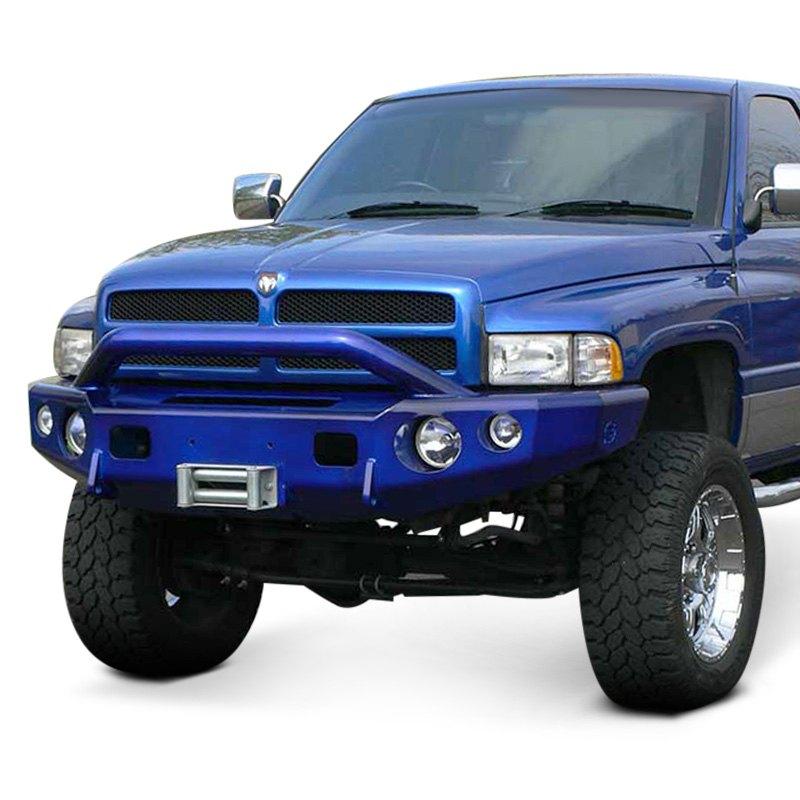 TrailReady® - Dodge Ram 1999-2001 Full Width Black Front Winch HD Bumper with Pre-Runner Guard