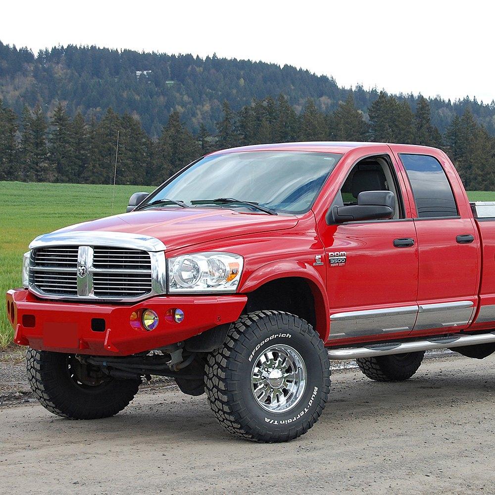 Dodge Ram 2008 Black Powder Coated Front Bumper