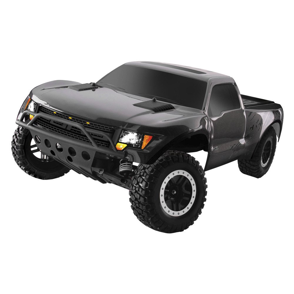 black electric ford raptor f 150 1 10 scale 2wd replica model svt styling