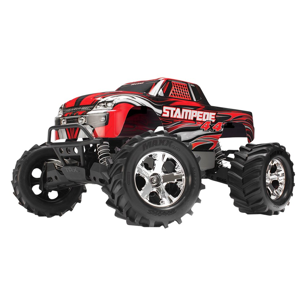 Traxxas 174 Red Electric Stampede 1 10 Scale Monster Truck
