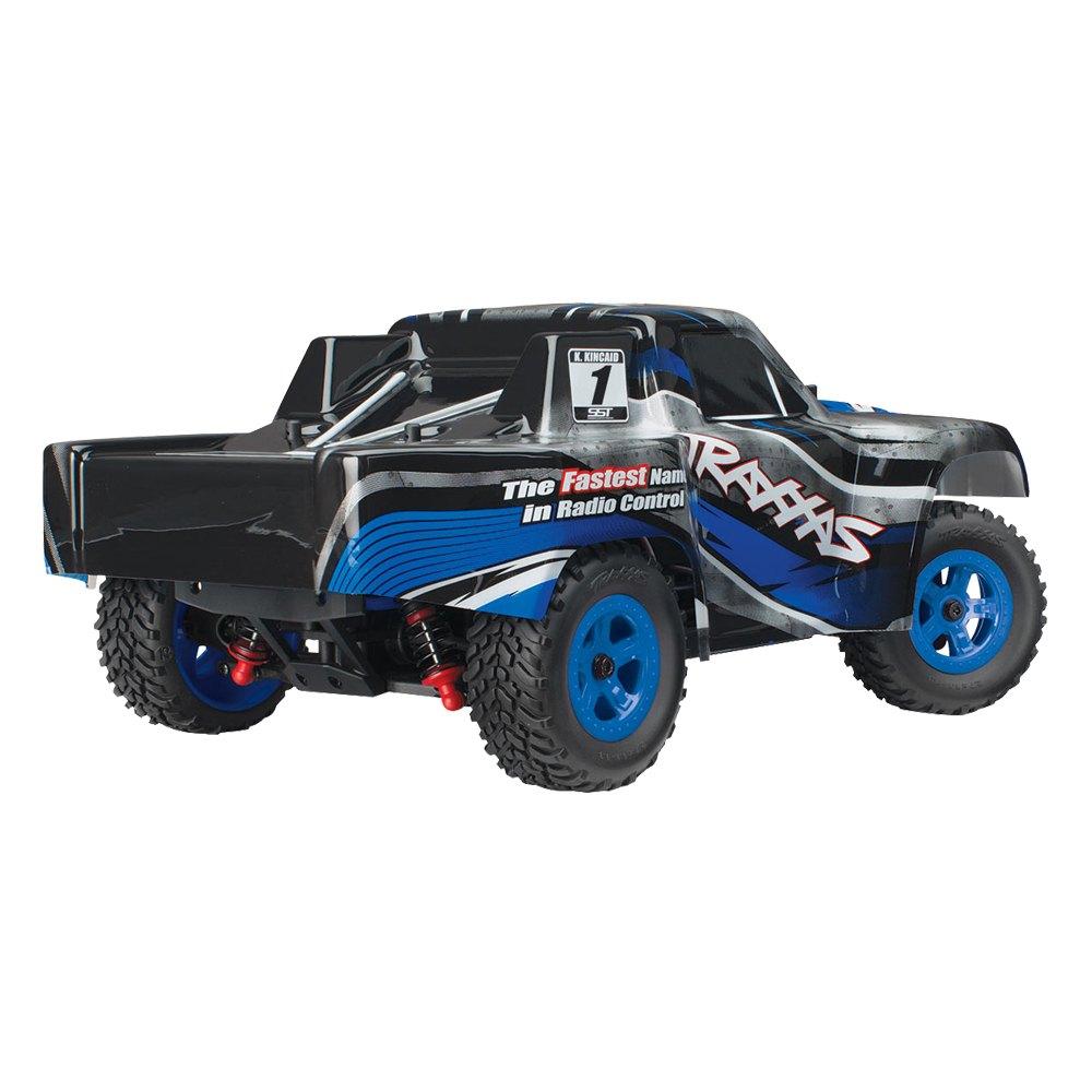blue electric latrax sst 1 18 scale 4wd stadium trucktraxxas