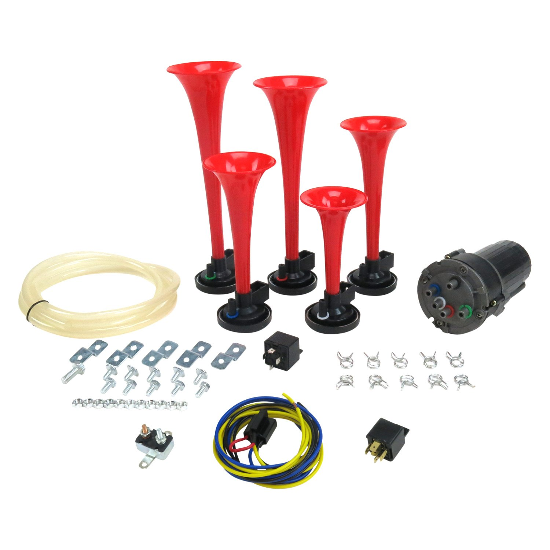 Trigger Horns Trgha165k La Cucaracha Horn Kit With High Amp Circuit Breaker Relay Driver Plug