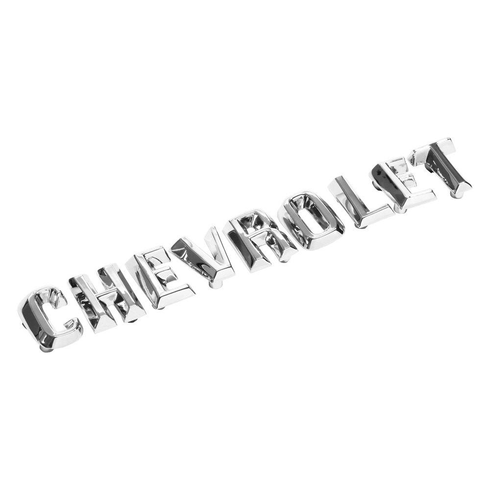 Trim partsr 2110 quotchevroletquot hood letter set for Chevy chrome letters