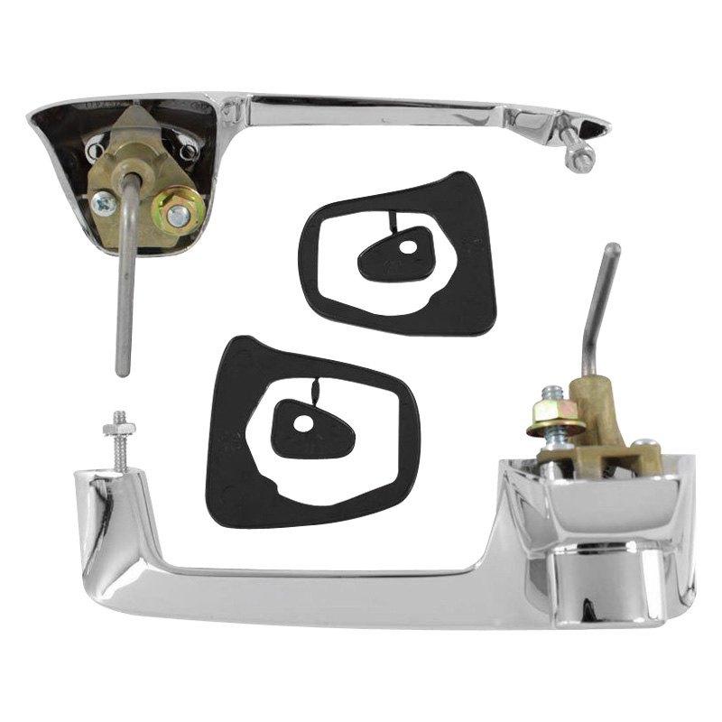 Trim parts mp5205 front door handles assembly for Door handle parts