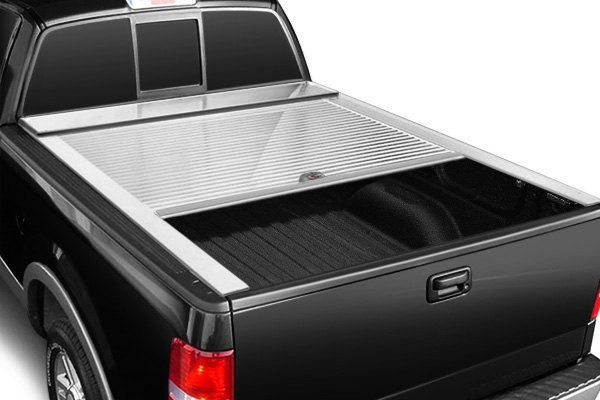 Truck covers usa cr403 white american roll retractable for Retractable bed