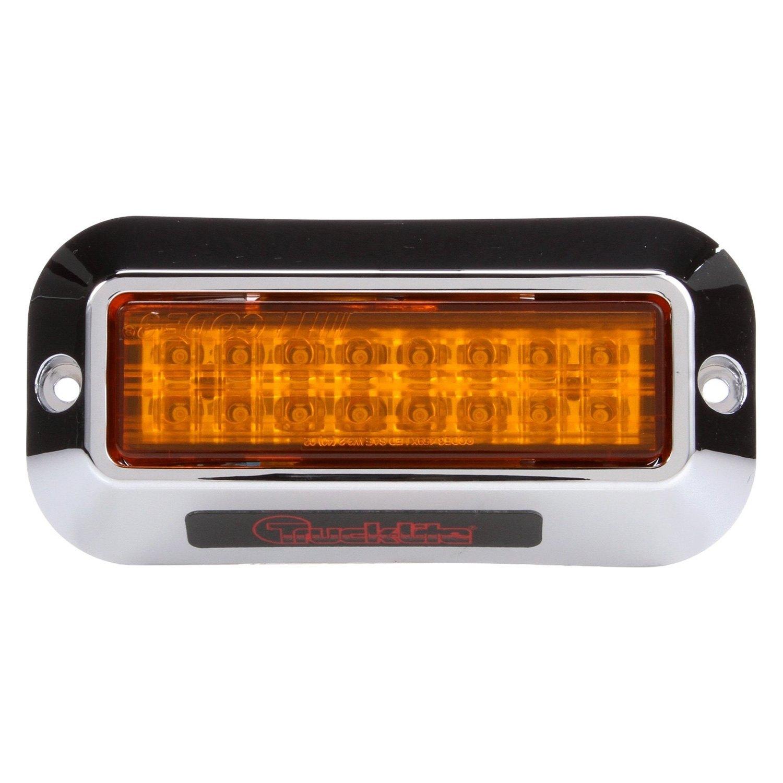Led Strobe Lights For Trucks >> Truck Lite 92695y Bolt On Mount Yellow Led Strobe Light