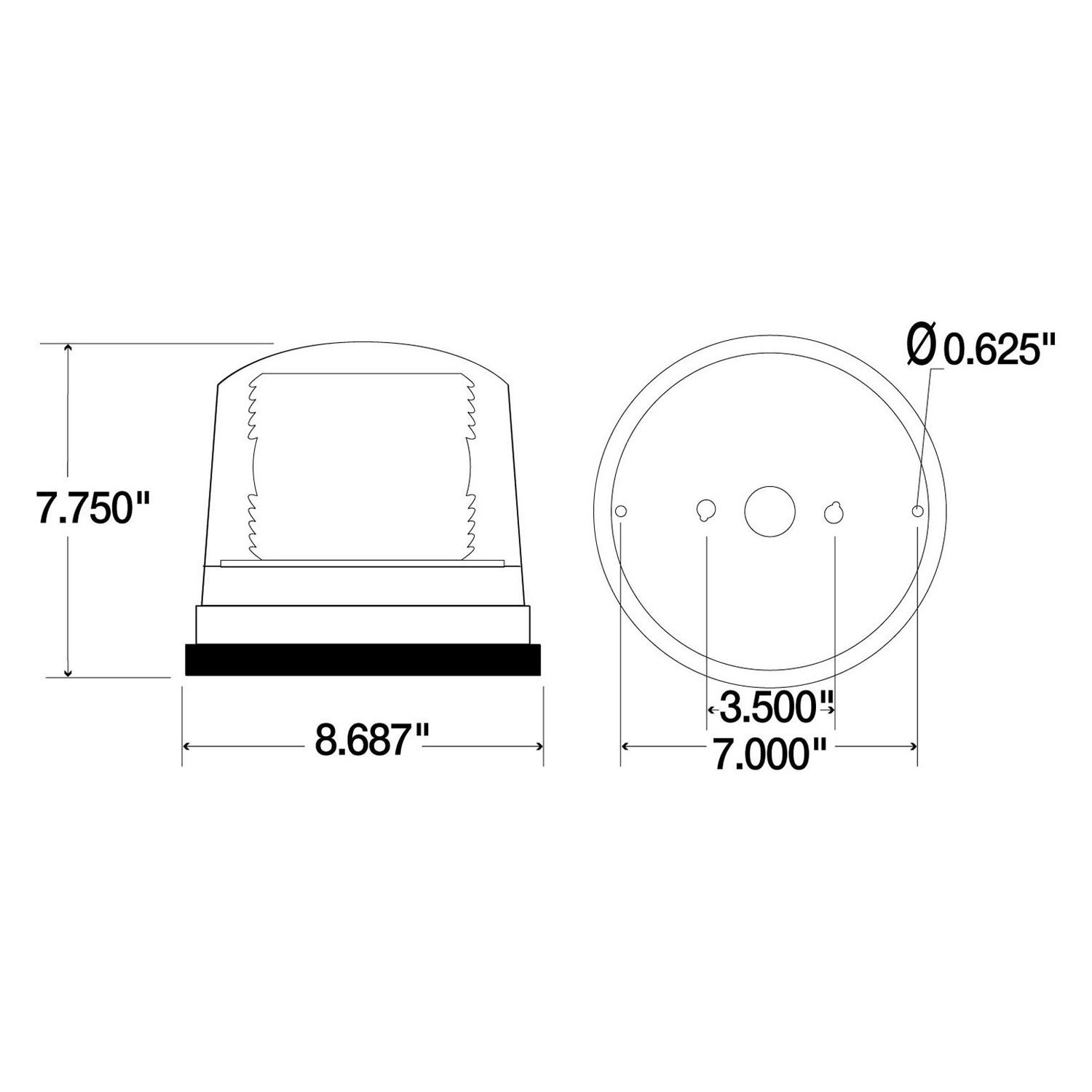 92865y 5 truck lite� 92865y permanent mount high profile yellow led haas sl-20t beacon light wiring diagram at n-0.co