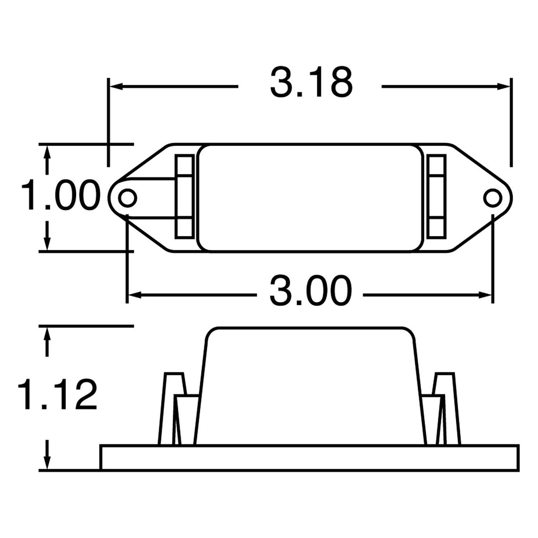 Rectangular Signal-Stat Pee Wee Marker