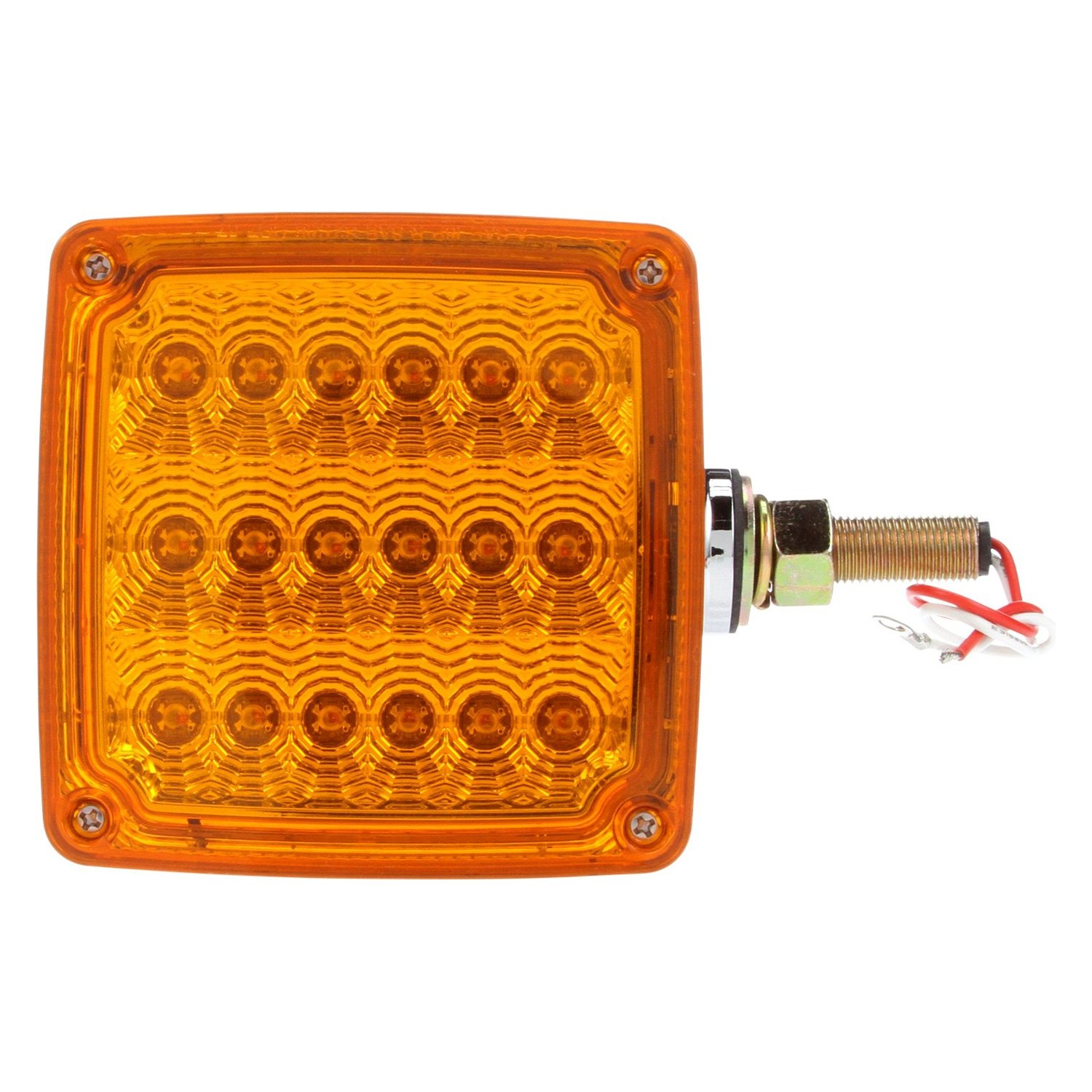 Truck Lite 174 2752 Yellow Signal Stat With Square Dual
