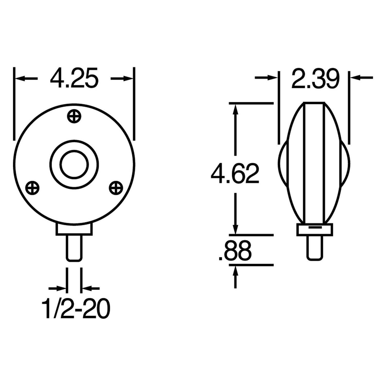 Truck-Lite® 3802 - Round Signal-Stat Dual Face Pedestal Light
