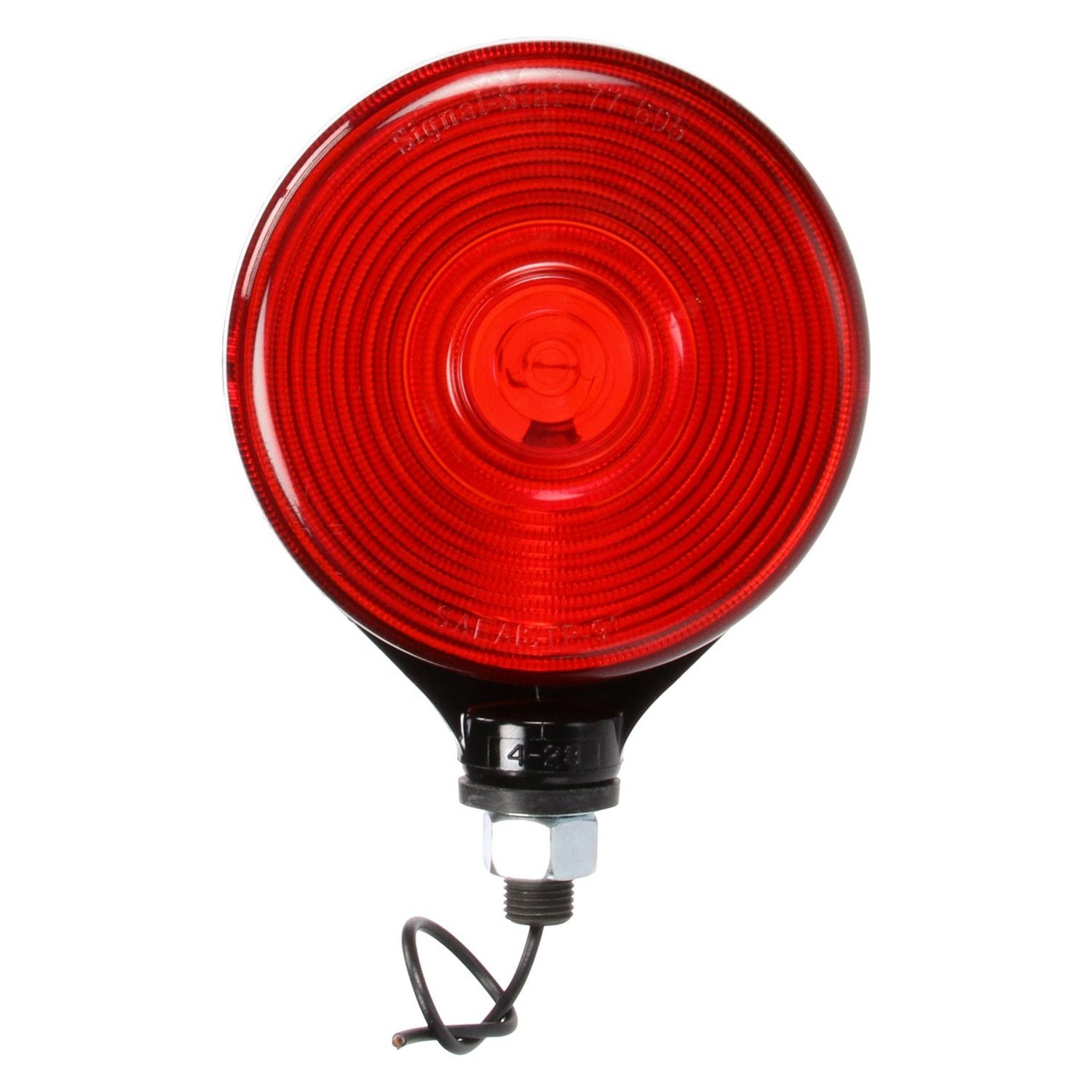 Red Truck Lamp : Truck lite signal stat red yellow round dual face