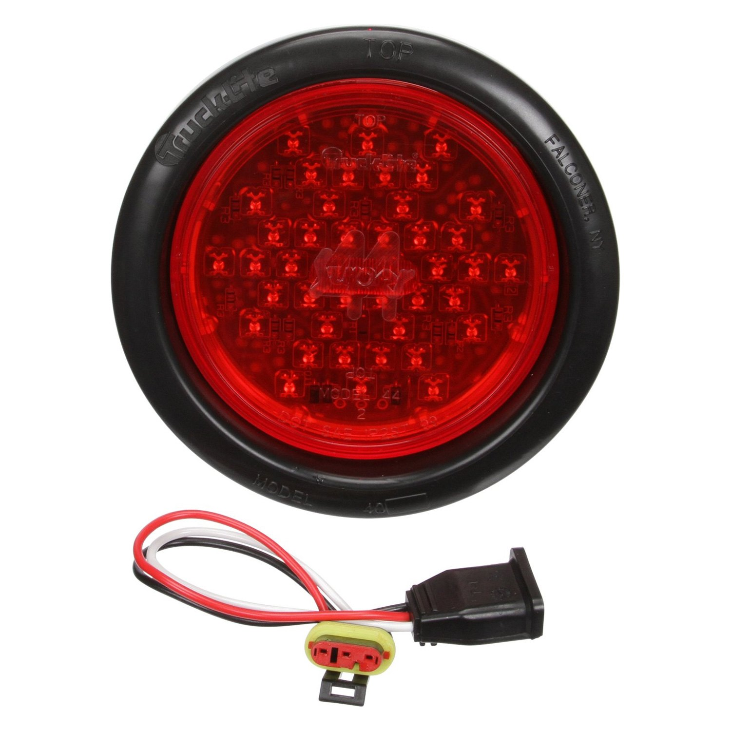 truck lite 44082r red round super 44 stop turn tail light kit 42 led. Black Bedroom Furniture Sets. Home Design Ideas