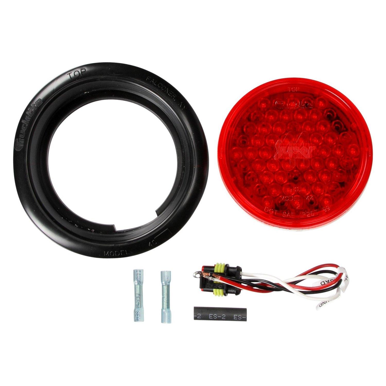 truck lite 44101r super 44 red round 42 led strobe light kit. Black Bedroom Furniture Sets. Home Design Ideas