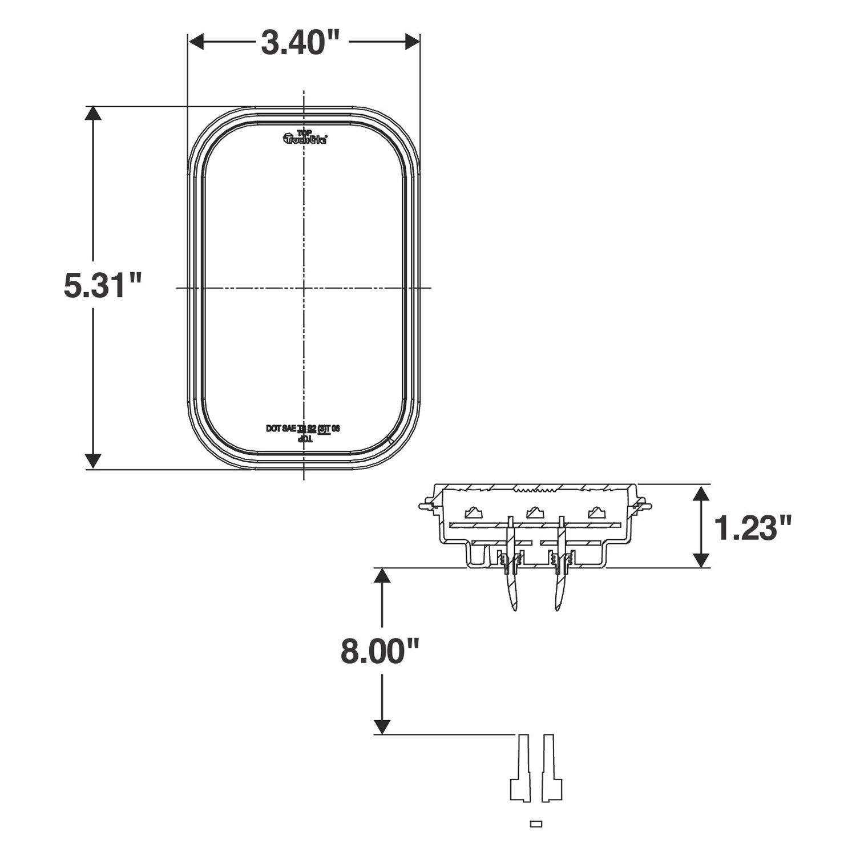 ... 15 LEDTruck-Lite® - 45 Series Red LLV Stop/Turn/Tail Light Kit, 15 LED