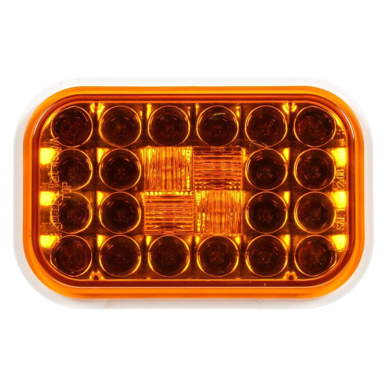 Truck Lite 174 4550a Yellow Rectangular Signal Stat Rear