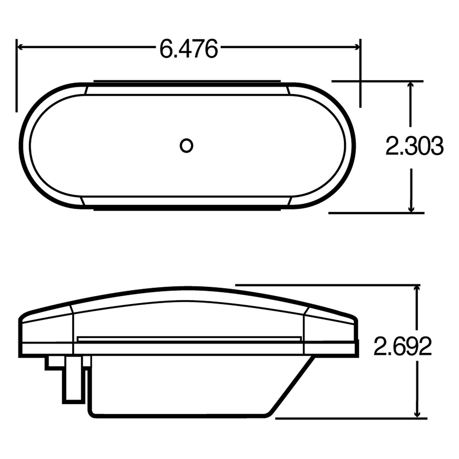 New Truck-lite Signal Stat Clear Oval Back-up Light 69203C