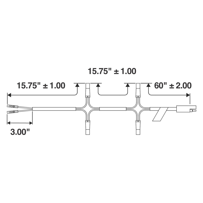 Truck Lite 88 Series Identification Wiring Harness 4 6 Plug Harnesstruck 20763 Upper