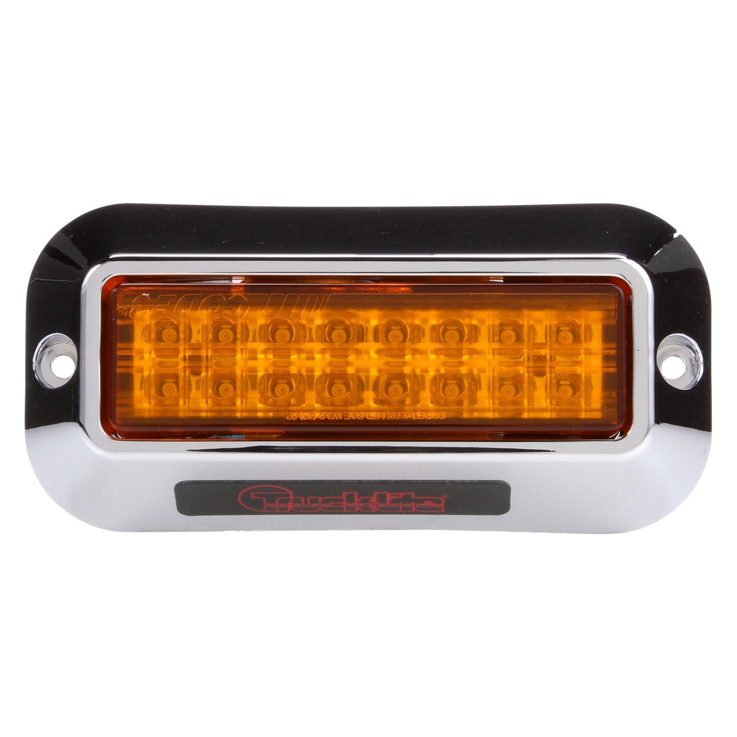 truck lite yellow rectangular 16 led strobe light. Black Bedroom Furniture Sets. Home Design Ideas