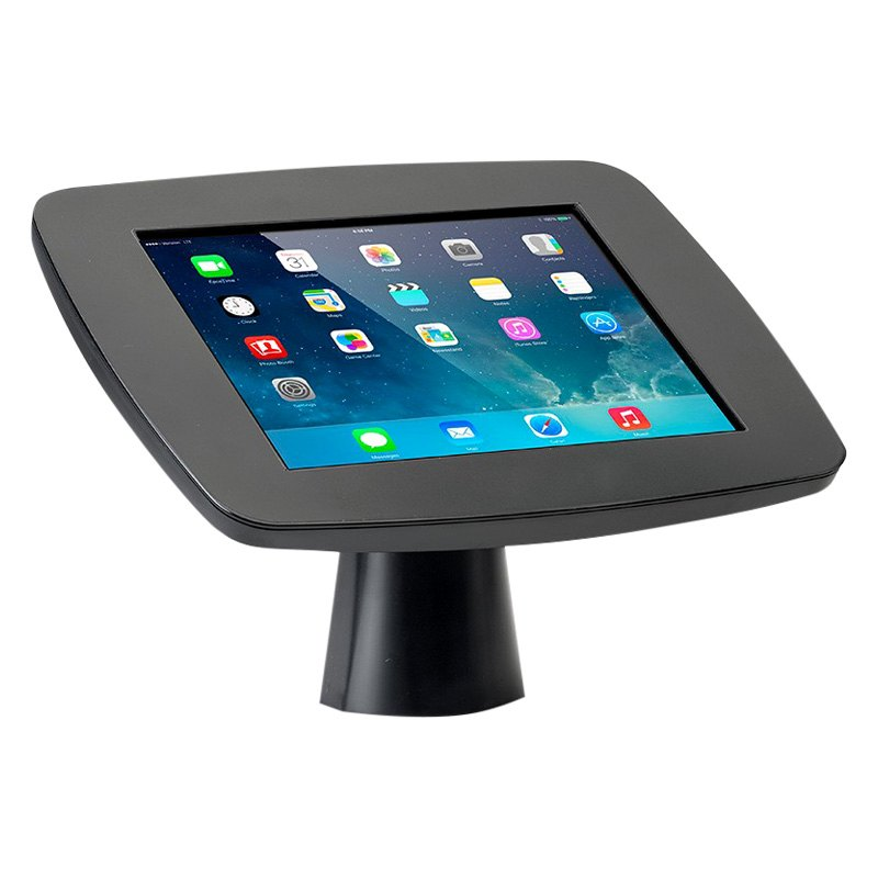 black wallmount kiosk with closed faceplate for ipad air air 2 - Ipad Wall Mount
