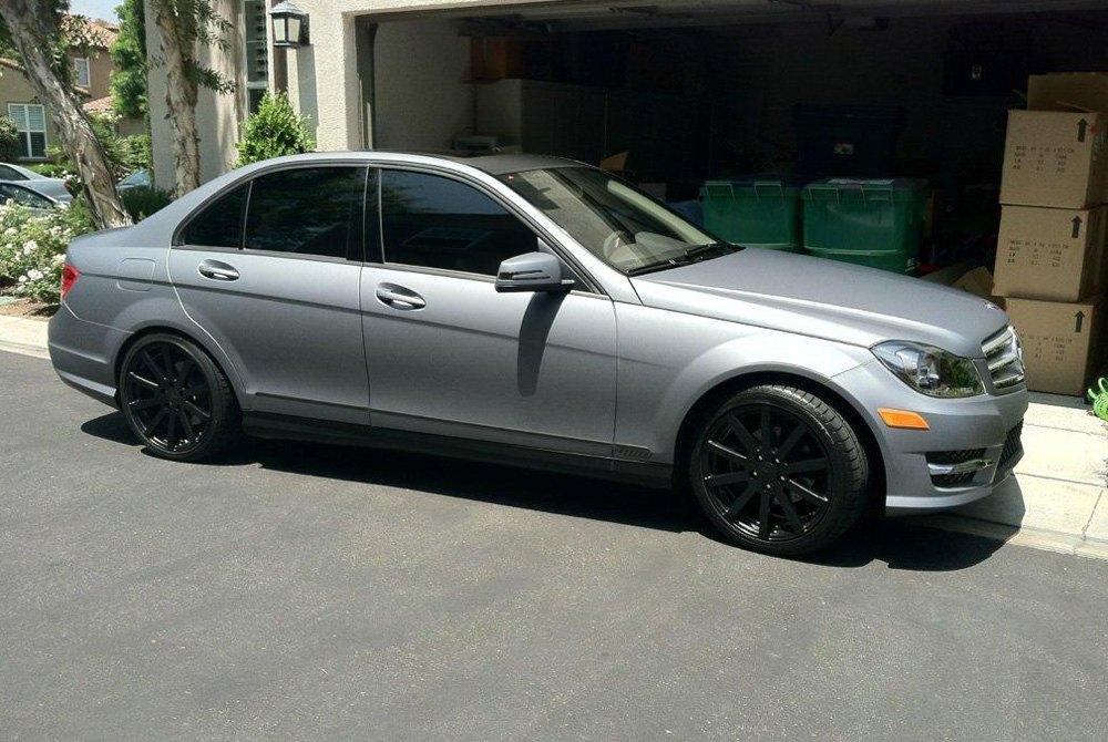 Tsw brooklands wheels matte black rims for Mercedes benz black on black