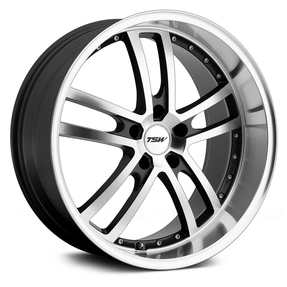 Tsw 174 Cadwell Wheels Gunmetal With Mirror Cut Face And