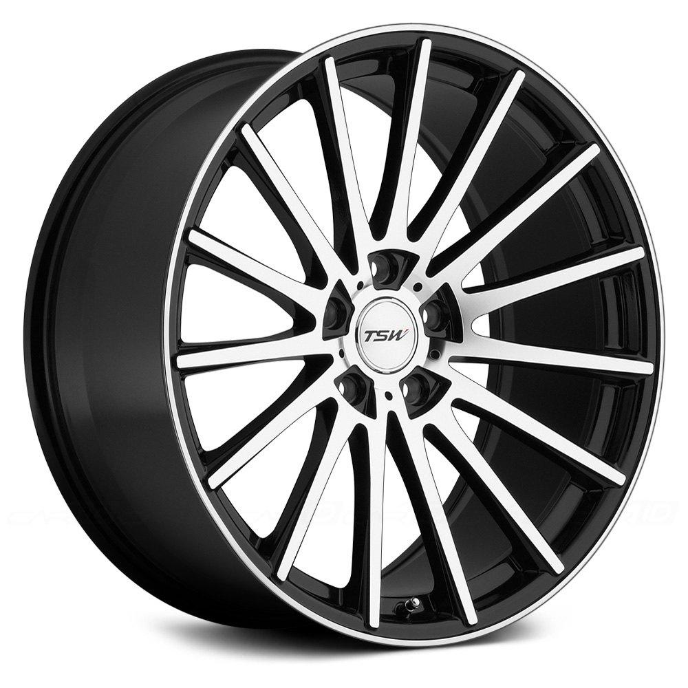 Tsw chicane wheels black with mirror cut face rims