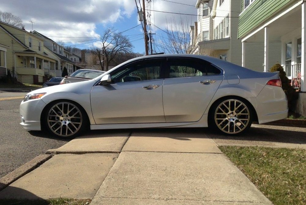TSW DONINGTON Wheels Gunmetal With Mirror Cut Face And Lip Rims - Acura tsx wheel offset