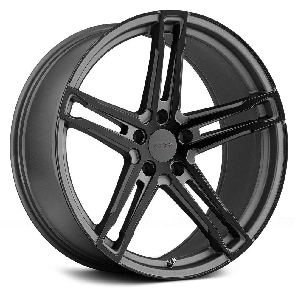 Tsw 174 Mechanica Wheels Matte Gunmetal With Matte Black