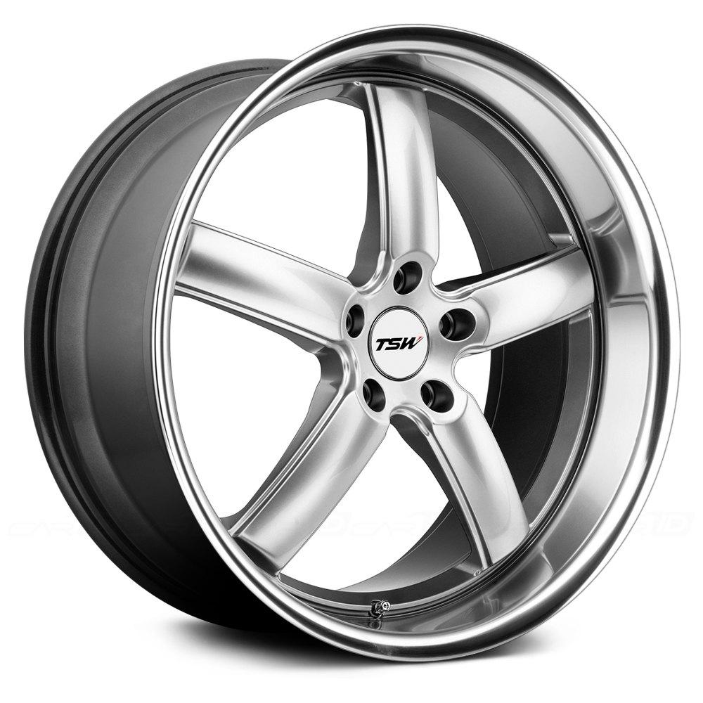 Tsw 174 Stowe Wheels Hyper Silver With Mirror Cut Lip Rims
