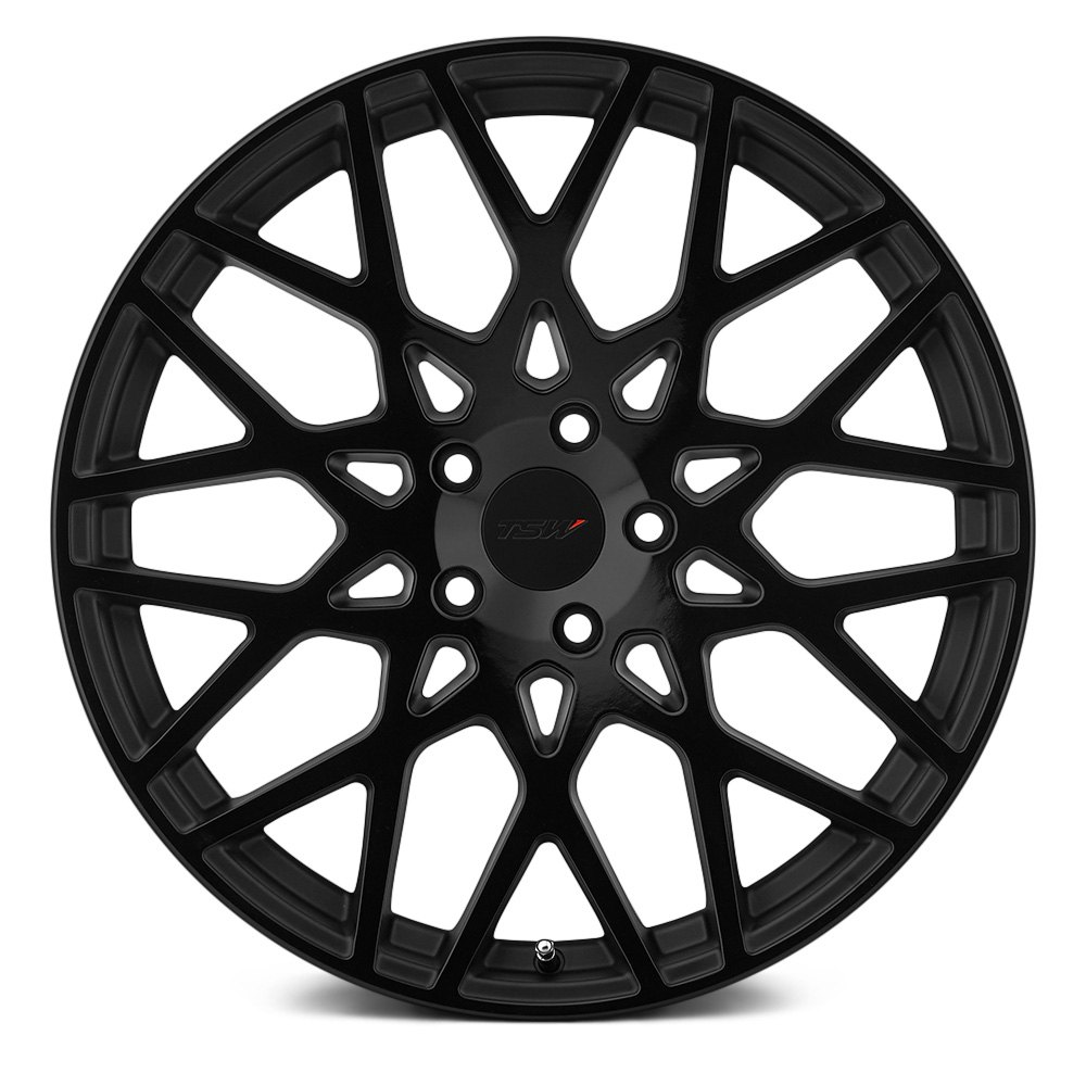 Tsw 174 Vale Wheels Matte Black With Gloss Black Face Rims
