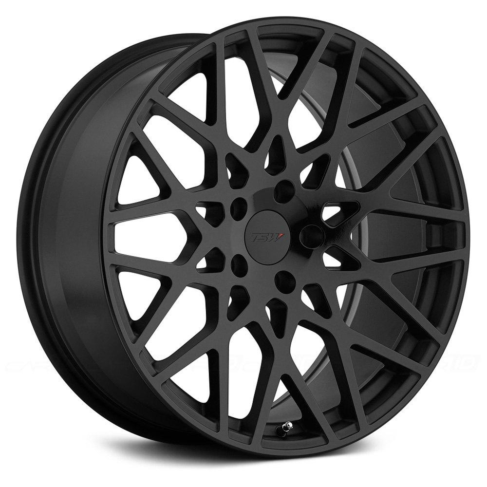Tsw 174 Vale Wheels Matte Black With Gloss Black Face Rims