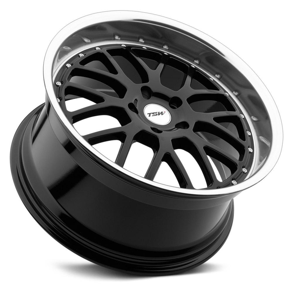 Tsw 174 Valencia Wheels Gloss Black With Mirror Cut Lip Rims