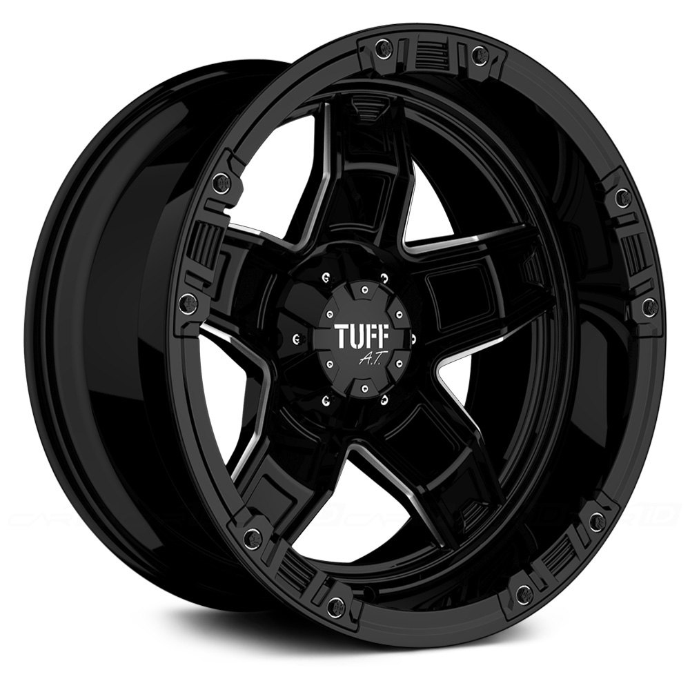 Tuff 174 T10 Wheels Gloss Black With Chrome Accents Rims