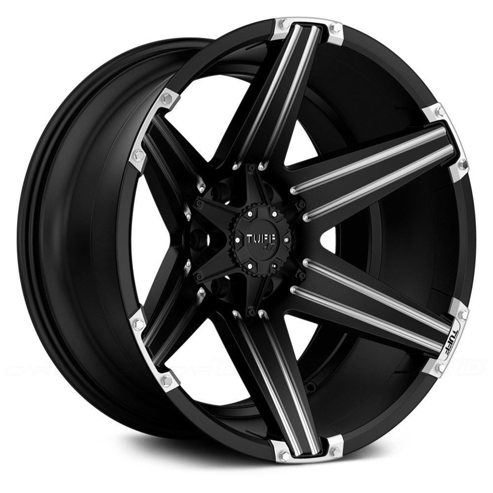 Tuff 174 T12 Wheels Satin Black With Milled Accents Rims