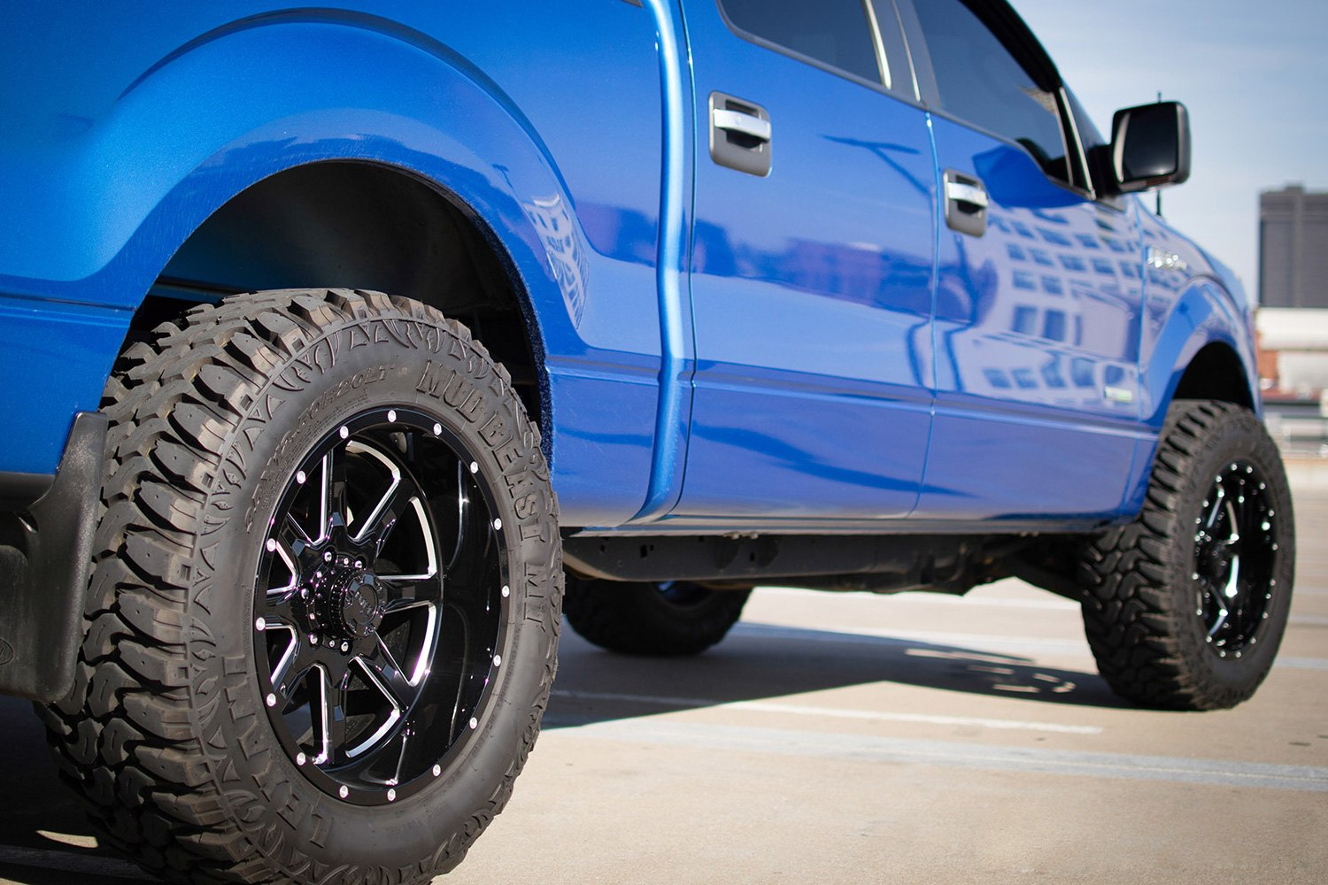 Ford Explorer Black Rims >> TUFF® T15 Wheels - Satin Black with Milled Accents Rims