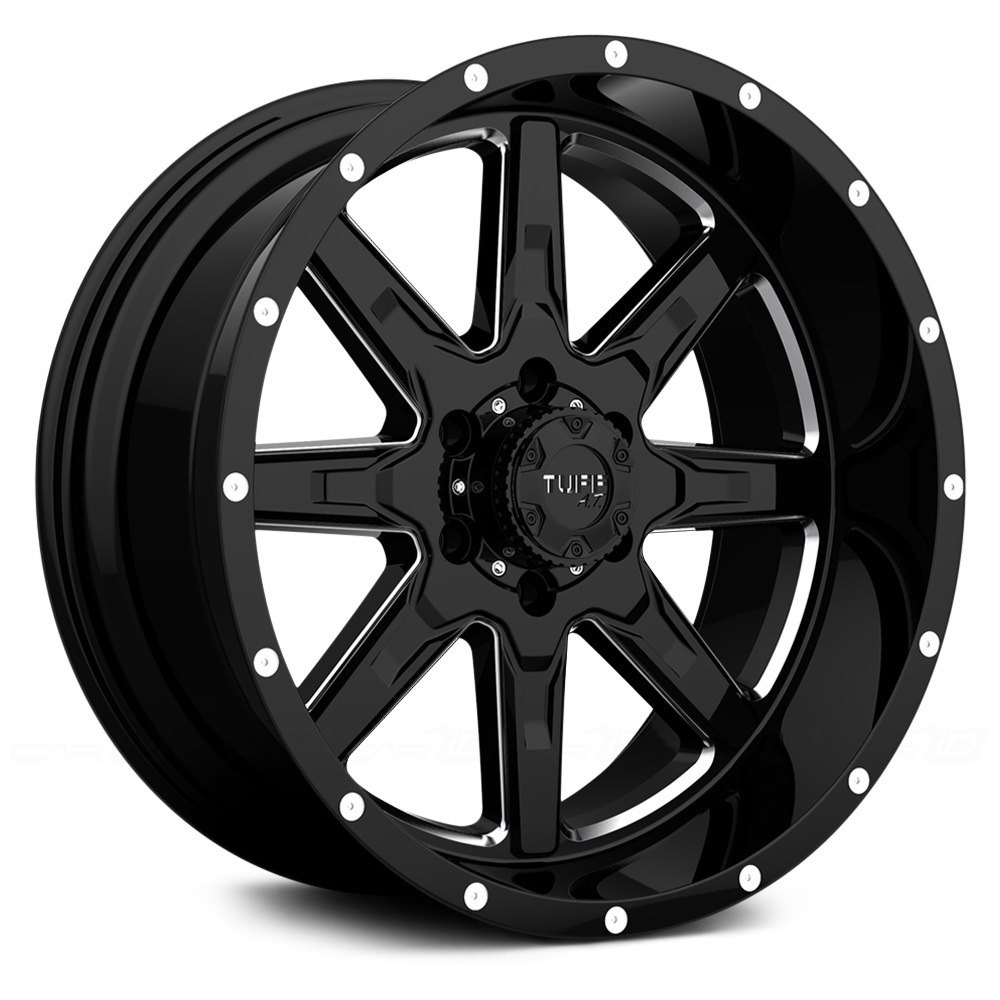 Tuff 174 T15 Wheels Satin Black With Milled Accents Rims