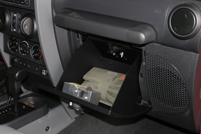Tuffy jeep wrangler 2007 2016 security glove box for Interior jeep accessories