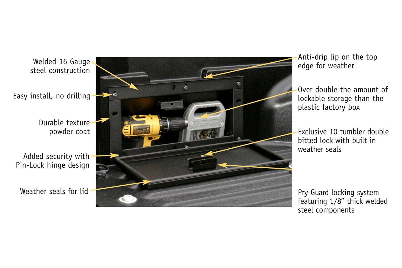 Toyota Tacoma Truck Bed Security Lockbox Black