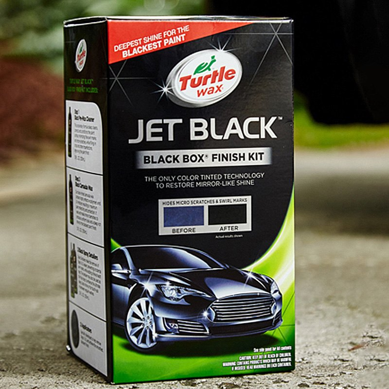 turtle wax jet black black box kit ebay. Black Bedroom Furniture Sets. Home Design Ideas