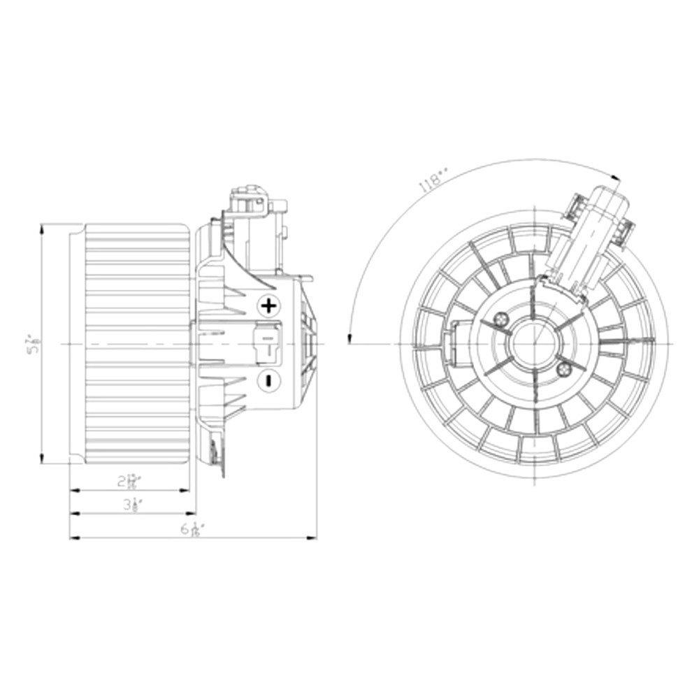 For Kia Forte 2012-2013 TYC HVAC Blower Motor