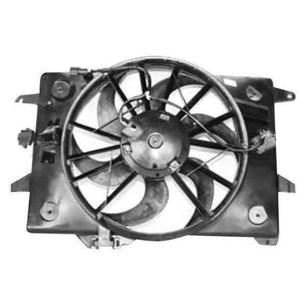 Tyc 620680 Dual Radiator And Condenser Fan Ebay
